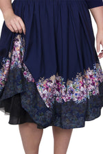 Scarlett & Jo Dresses MDNT MULTI / 10 Catherine Floral Wrap 2in1