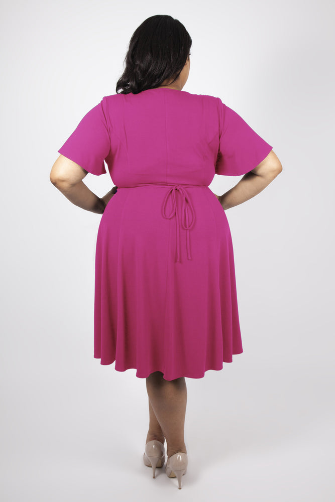 Scarlett & Jo Dresses Mimi Fuchsia Starlet Fit & Flare Dress