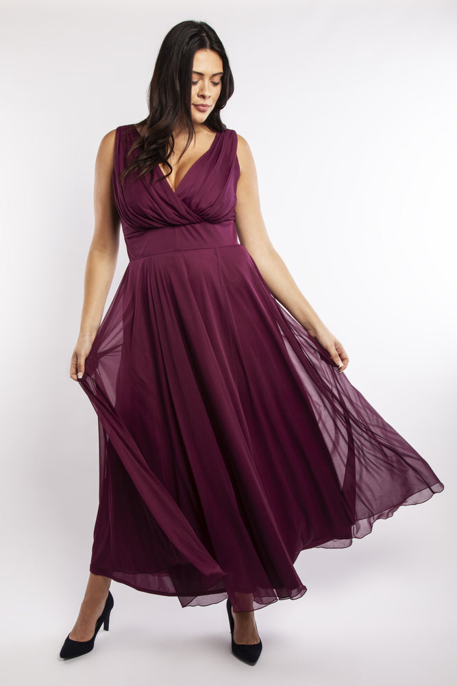 Scarlett & Jo Dresses Nancy Marilyn Maxi Dress (Plum)