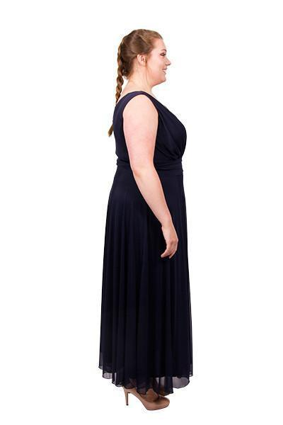 Scarlett & Jo Dresses Navy / 10 Nancy Marilyn Chiffon Maxi Dress