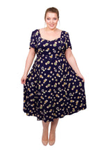 Floral Angel Wing 40's Dress