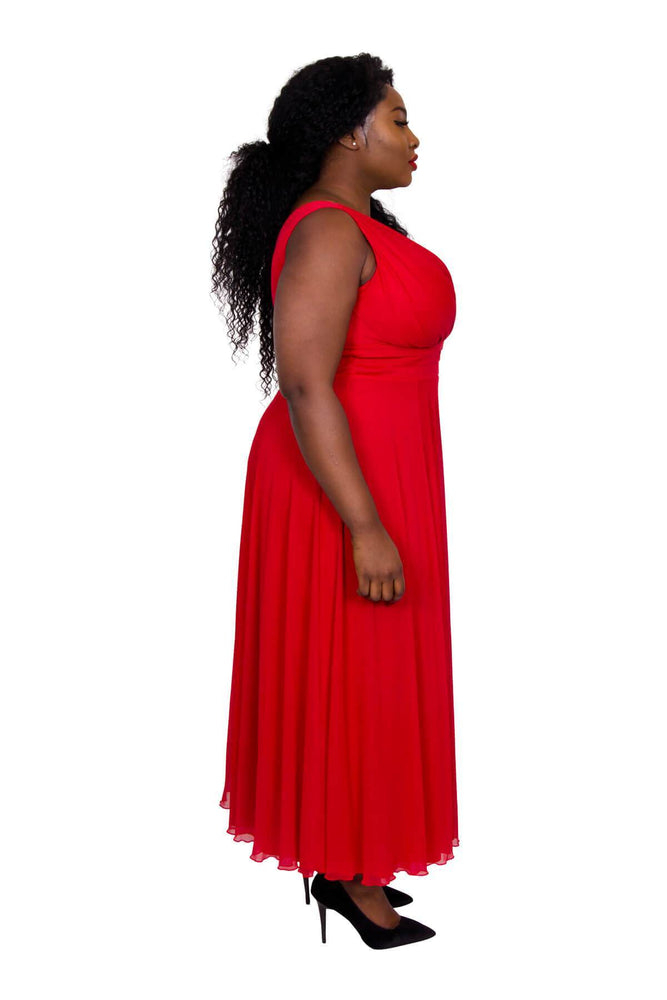 Scarlett & Jo Dresses PIL BOX RED / 10 Nancy Marilyn Chiffon Maxi Dress