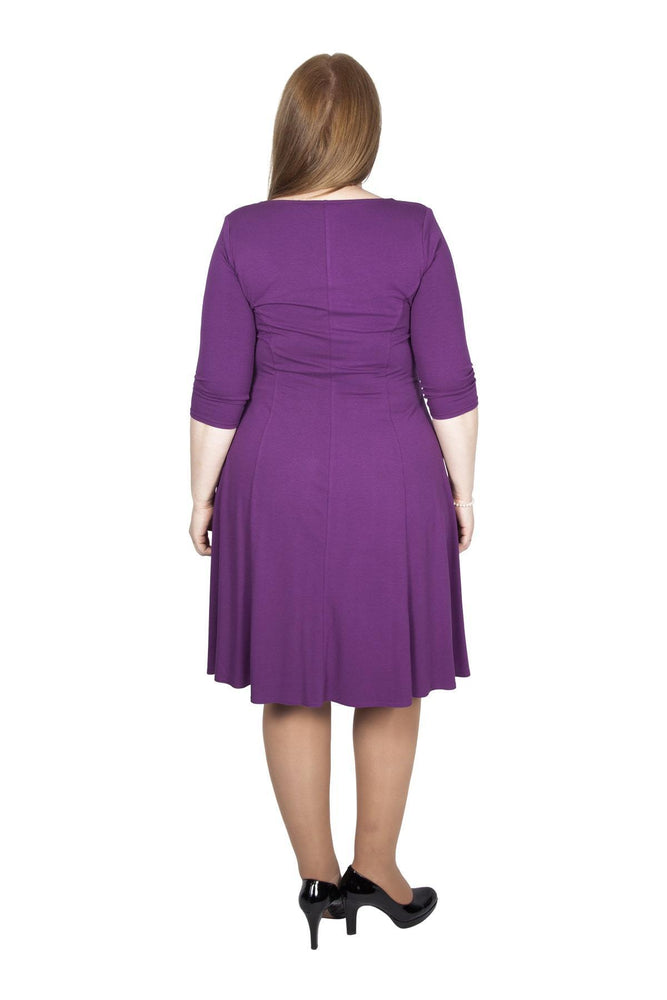 Scarlett & Jo Dresses PLUM / 10 Lauren Knot Front Dress