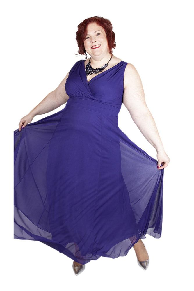 Scarlett & Jo Dresses PURPLE / 10 Nancy Marilyn Chiffon Maxi Dress