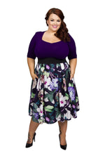 Sweetheart Starlet 2-in-1 Purple Green Dress