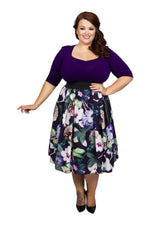 Scarlett & Jo Dresses PURPLGREEN / 10 Sweetheart Starlet 2-in-1 Purple Green Dress