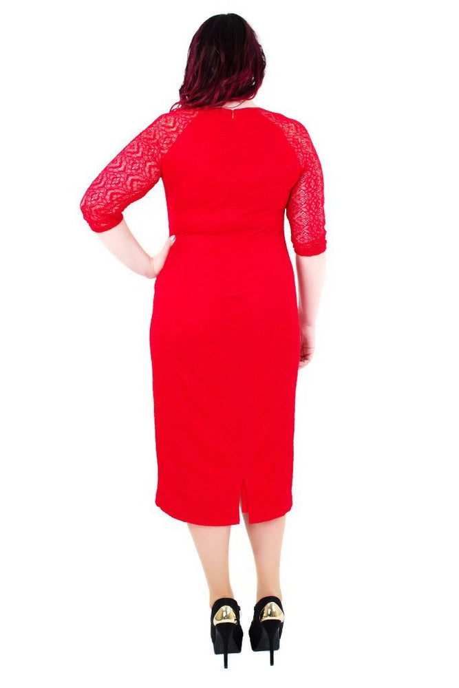 Scarlett & Jo Dresses Red / 10 Tall Bodycon Lace Dress