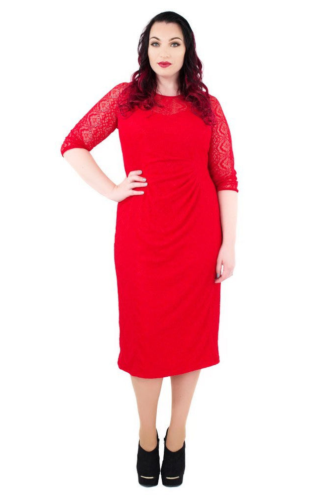 Scarlett & Jo Dresses Red / 12 Tall Bodycon Lace Dress