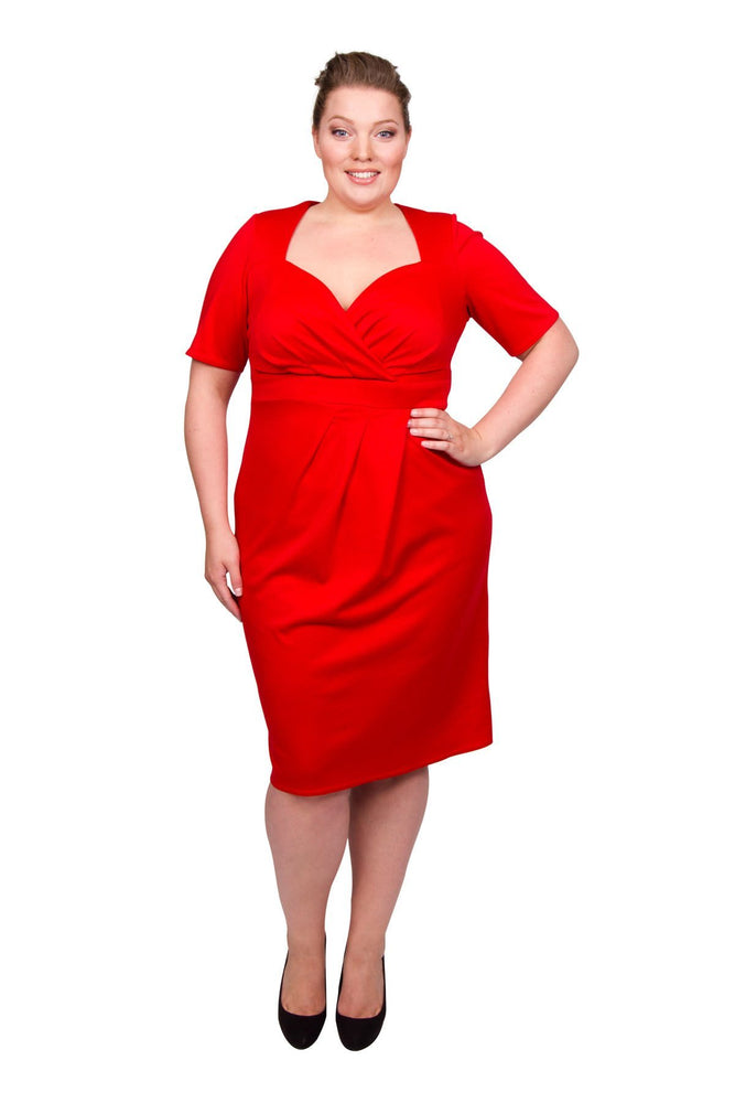 Twist Skirt Bodycon Dress (Red)