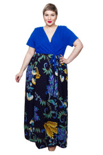 Scarlett & Jo Dresses Royal Blue / 12 2-In-1 Maxi Dress