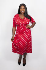 Scarlett & Jo Dresses SCARLET/WHI / 10 Lollidot Cowl Neck 40's Dress