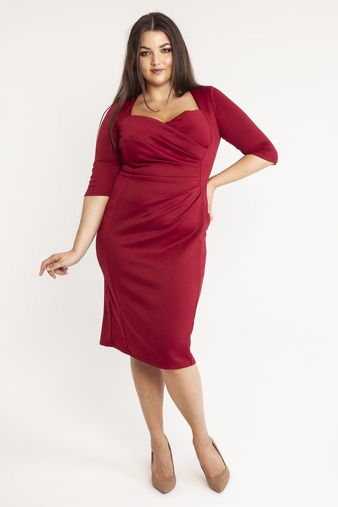 Stella Burgundy Bodycon Dress