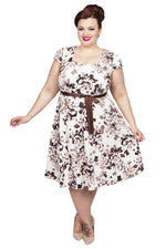 Sweetheart Dress (Cream Floral)