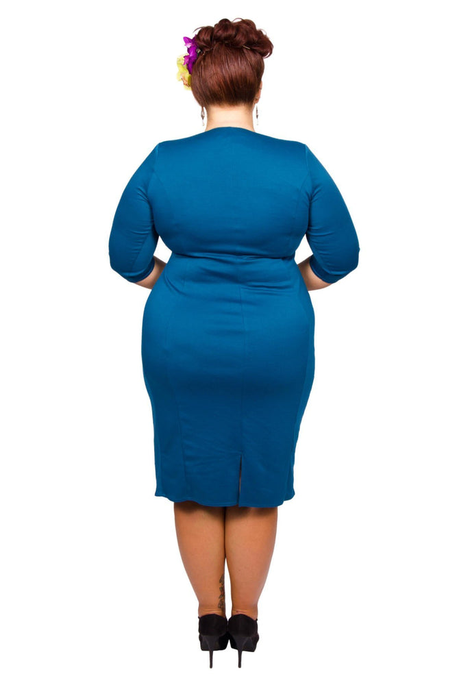 Scarlett & Jo Dresses Teal / 10 Twist Skirt Bodycon Dress