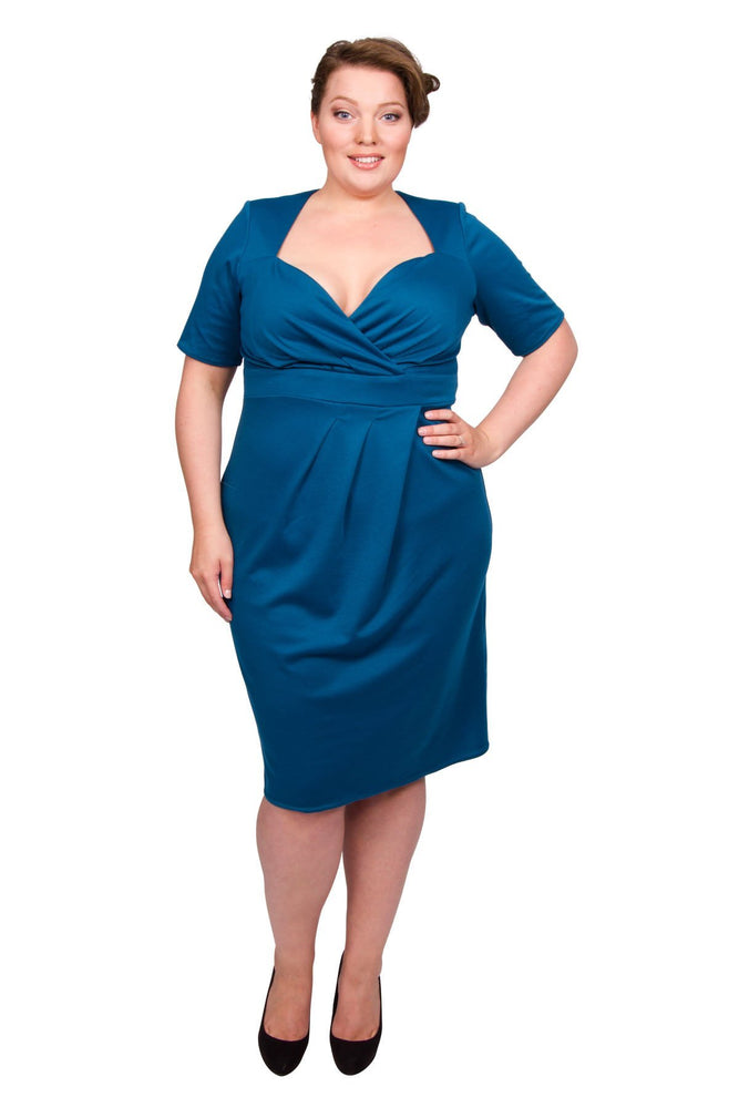 Twist Skirt Bodycon Dress (Teal)