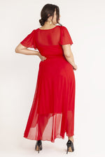 Scarlett & Jo Dresses Tilly Red Angel Sleeve Sweetheart Dress
