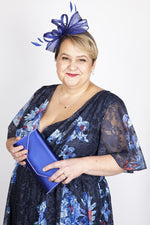Scarlett & Jo Hats Cobalt Bow and Feather Fascinator