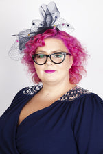 Scarlett & Jo Hats Navy Pillbox Fascinator