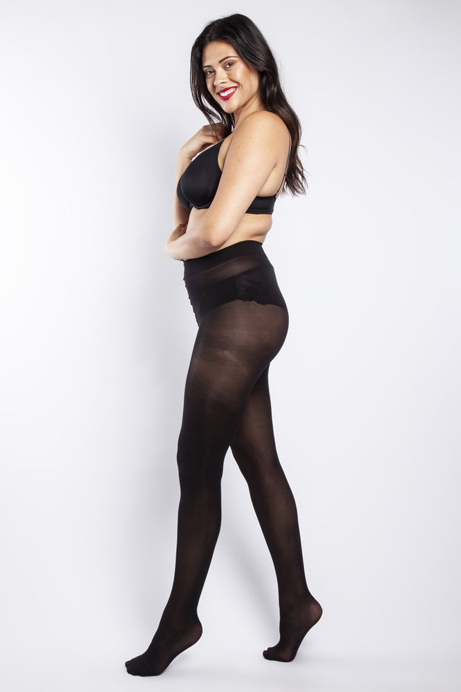 50 DENIER CURVY BLACK TIGHTS