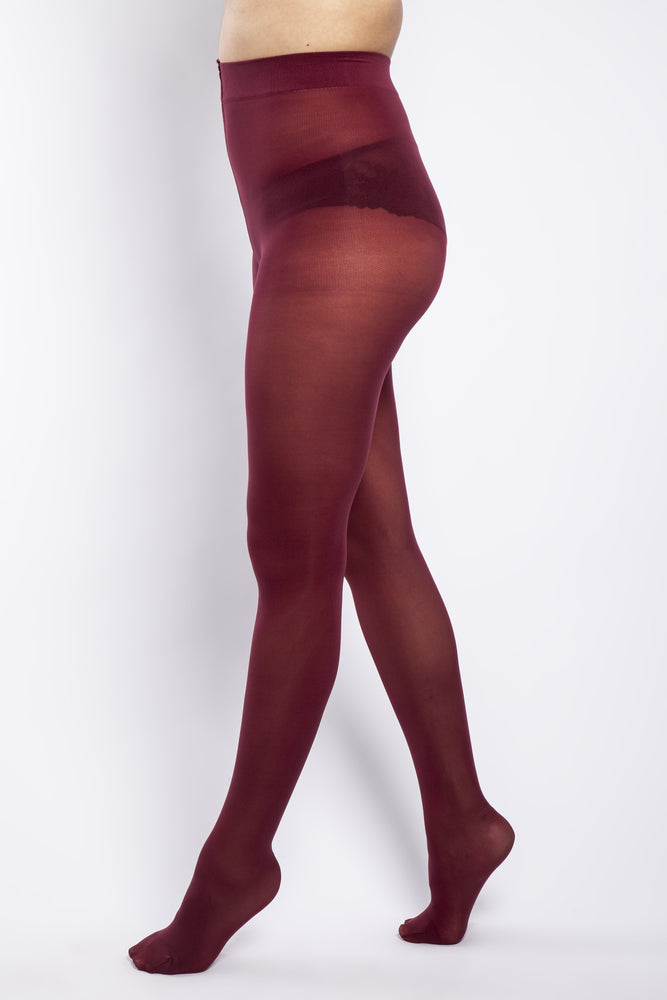 Scarlett & Jo Hosiery 50 DENIER CURVY BURGUNDY TIGHTS