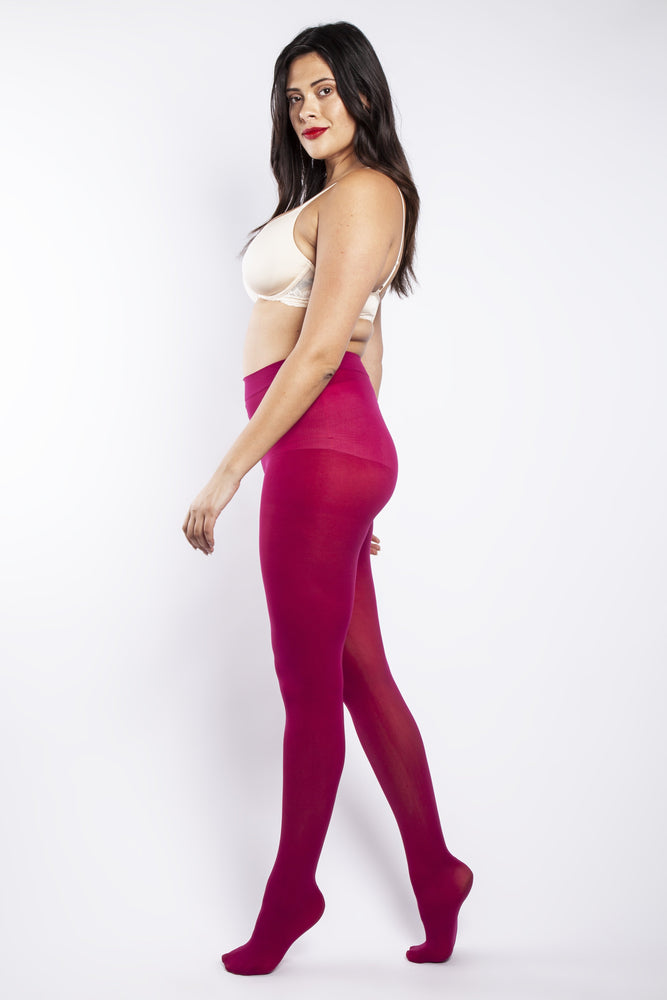50 Denier Curvy Cerise Tights
