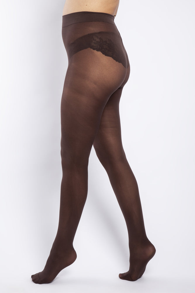 Scarlett & Jo Hosiery 50 DENIER CURVY CHOCOLATE TIGHTS