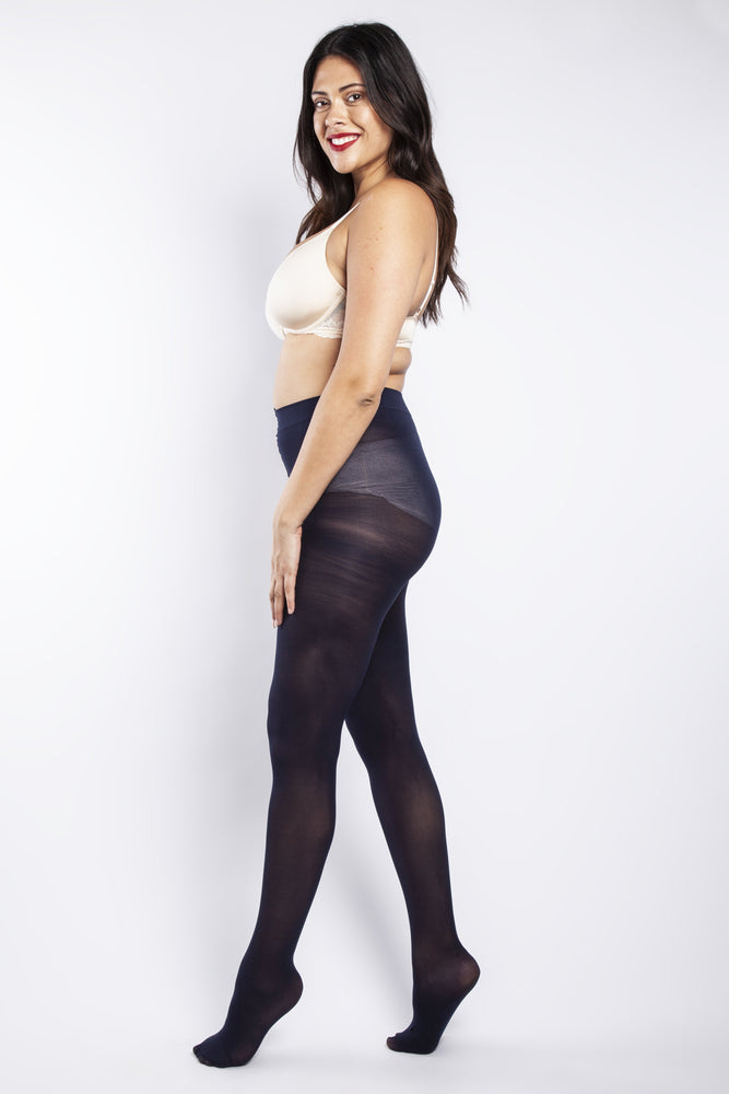 50 Denier Curvy Navy Tights