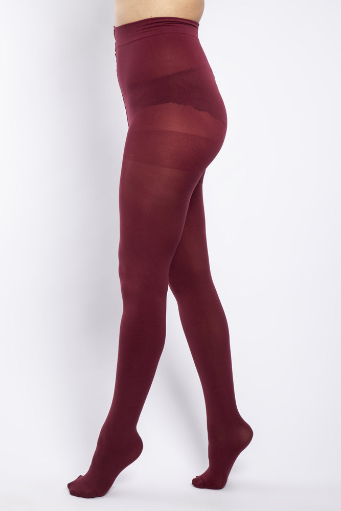Scarlett & Jo Hosiery 90 DENIER CURVY BURGUNDY TIGHTS