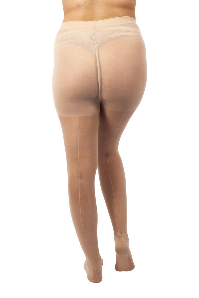 Scarlett & Jo Hosiery NUDE / 16/18 Scarlett 1940s Backseam 20 Denier Tights