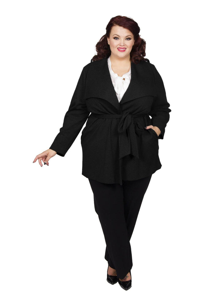 Scarlett & Jo Jackets Black / 10 Long Line Jacket