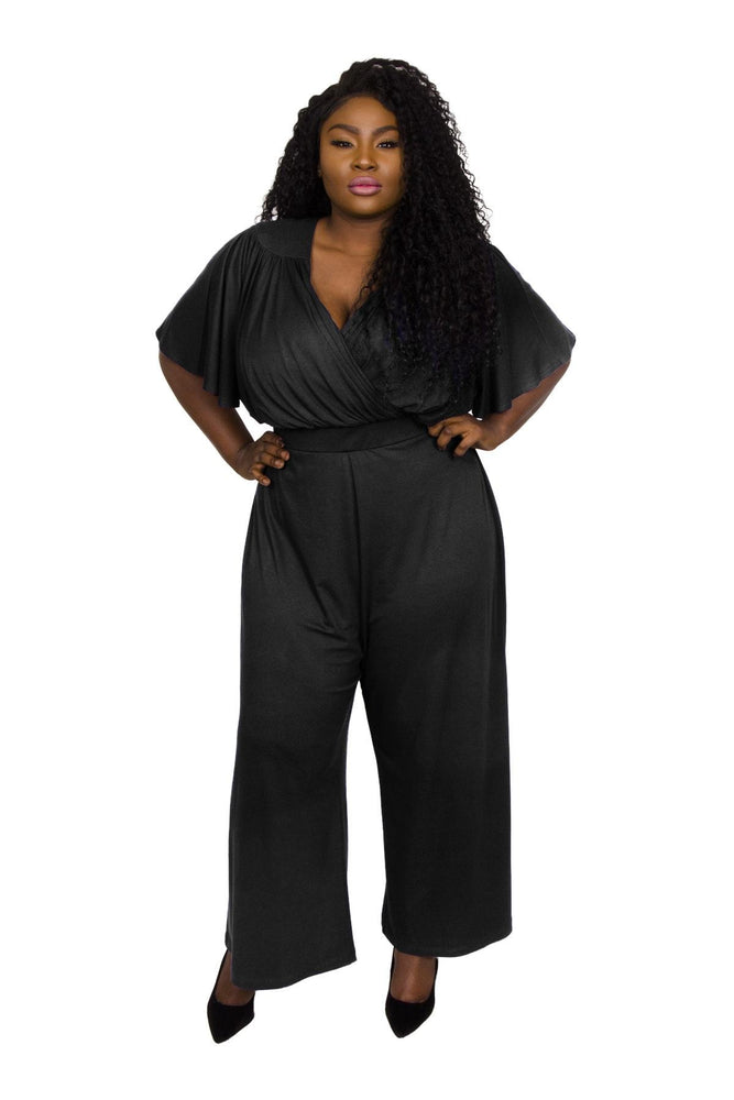 Scarlett & Jo Jumpsuits BLACK / 10 Wrap Lounge Jumpsuit