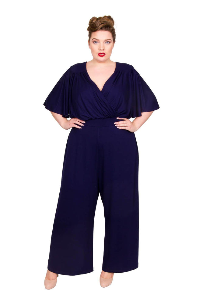 Blueberry Wrap Lounge Jumpsuit