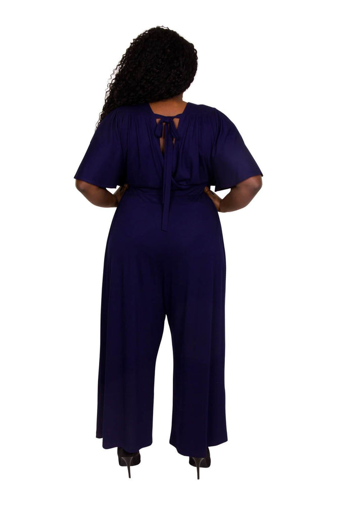Scarlett & Jo Jumpsuits BLUEBERRY / 10 Wrap Lounge Jumpsuit