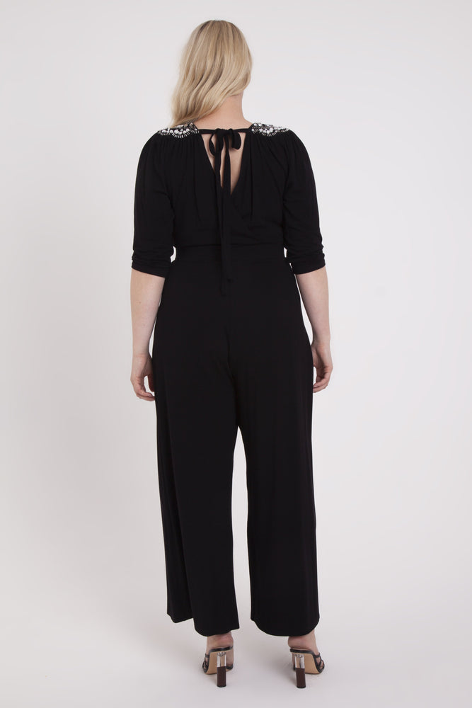 Scarlett & Jo Jumpsuits Zara Embellished Shoulder Wrap Jumpsuit