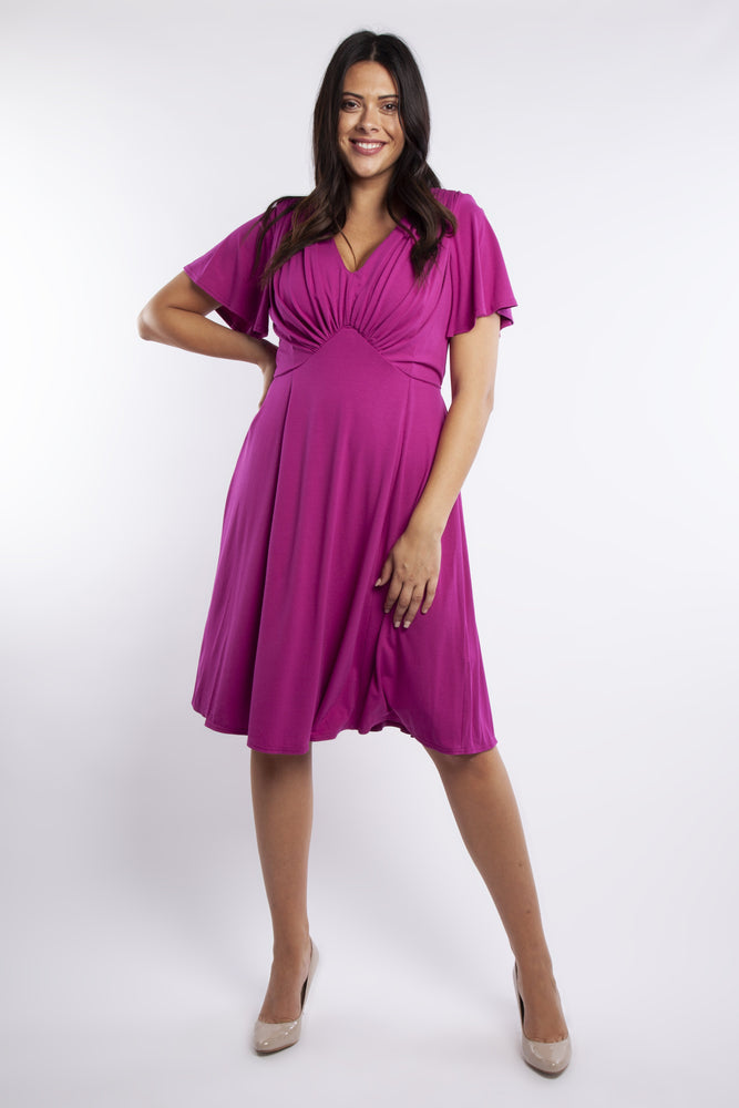 Scarlett & Jo Mimi Fuchsia Starlet Fit & Flare Dress