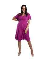 Mimi Fuchsia Starlet Fit & Flare Dress