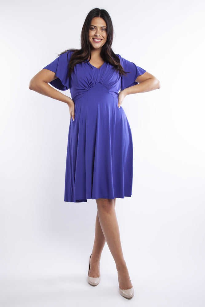 Mimi Purple Starlet Fit & Flare Dress