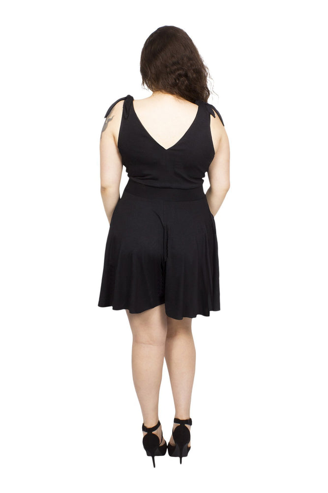Scarlett & Jo Playsuits Black / 10 Tie Shoulders Jersey Funsuit