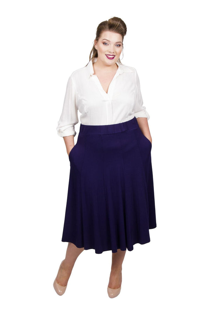 Scarlett & Jo Skirts Midnight / 10 Panelled Jersey Skirt