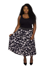 Original Bow Print Full Skirt
