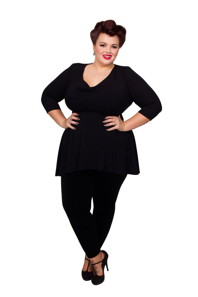 Scarlett & Jo Tops Black / 12 Cowl Neck Tunic