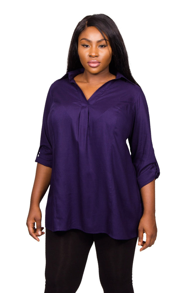 Scarlett & Jo Tops Midnight / 10 Midnight Tie Back Shirt