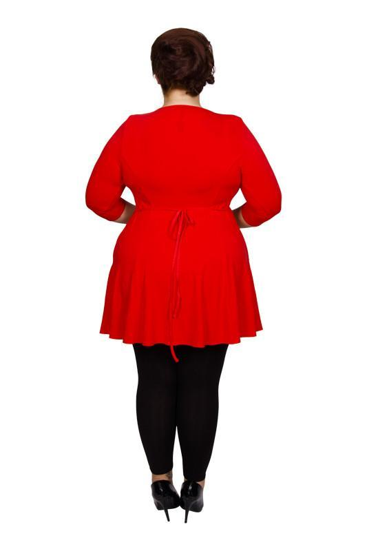 Scarlett & Jo Tops Paprika Red / 10 Pocket Fit and Flare Tunic
