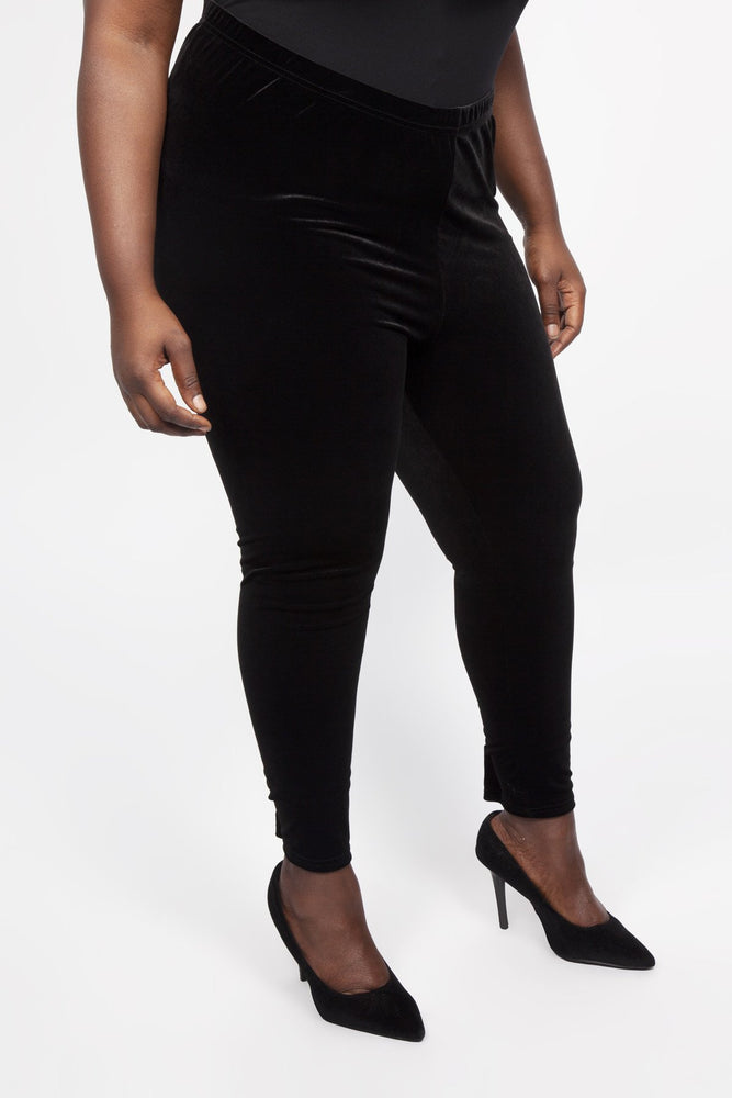 Scarlett & Jo Trousers Black / 10 Plush Velvet Leggings