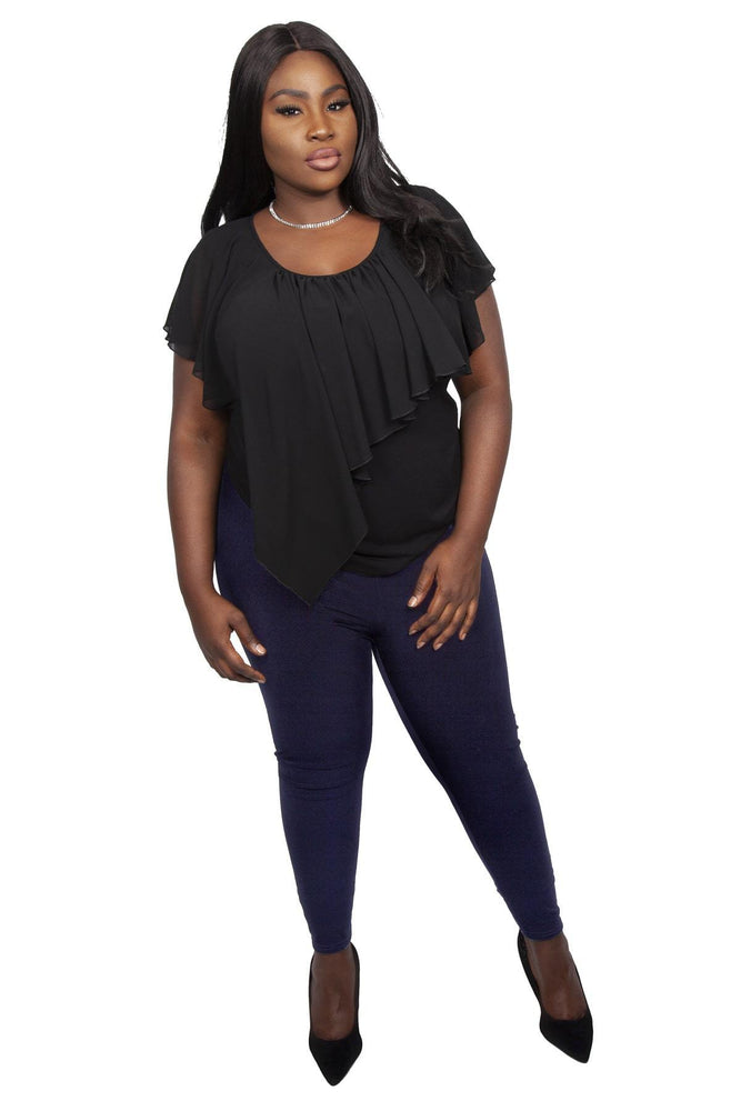Scarlett & Jo Trousers NAVY / 10 Jersey Leggings