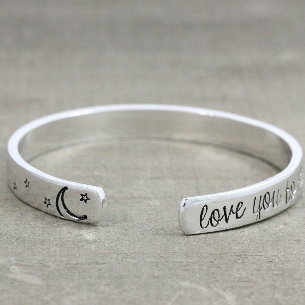 Love You to The Moon and Back Bracelet with Moon and Stars