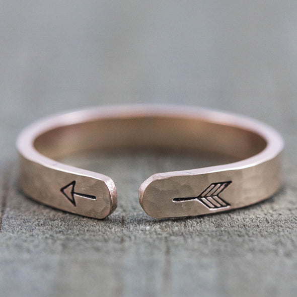 Gold Arrow Cuff Ring - Lauren Shaddow Jewelry