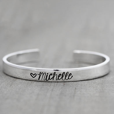 Personalized Name Cuff - Lauren Shaddow Jewelry