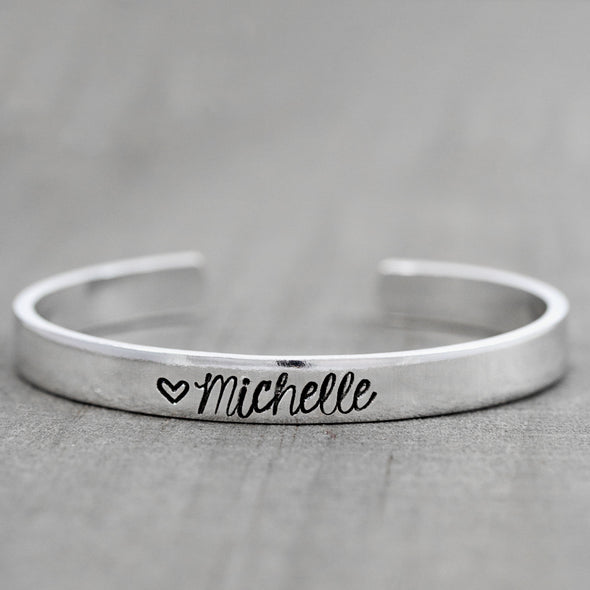 Personalized name bracelet - Sterling silver