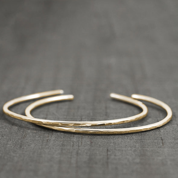 Minimalist Bracelet Set in 14K Gold - Lauren Shaddow Jewelry